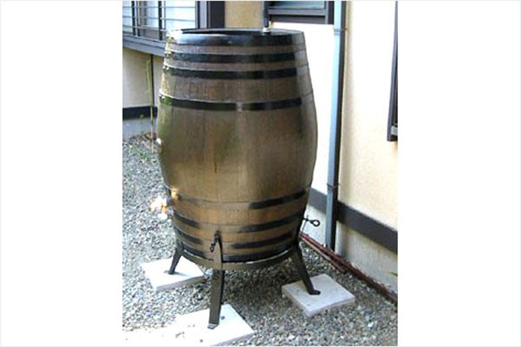 ウイスキー樽雨水タンク樽王450リットル