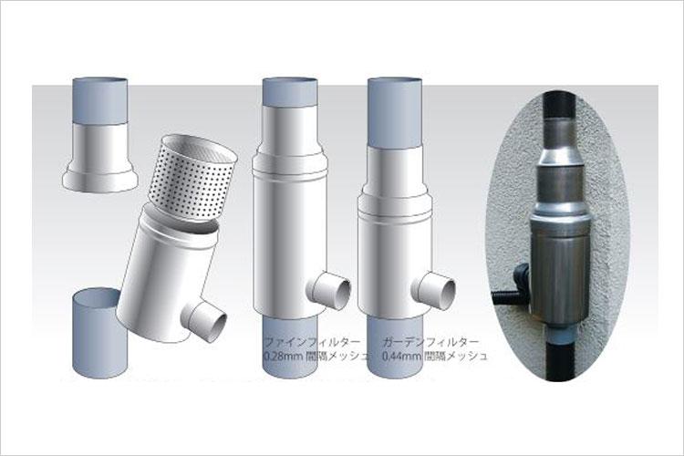 ドイツ製集水器雨水コレクターWISYウィジー VP/VU100 GS100(0.44mmメッシュ)
