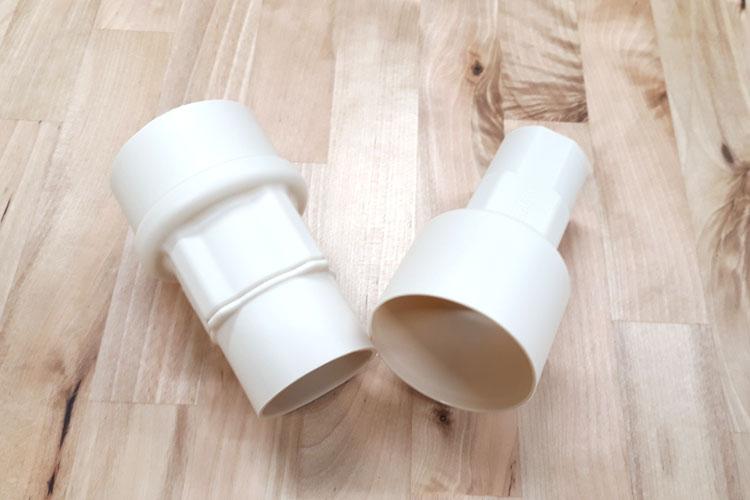 雨水タンク集水器用角丸40mmアダプター(ジェットライン・カーポート用雨どい等対応)