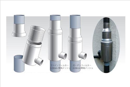 ドイツ製集水器雨水コレクターWISYウィジー VP/VU75 GS90(0.44mmメッシュ)