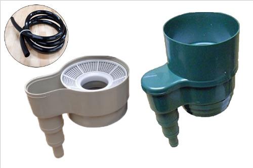 万能型フィルター付き集水器雨水コレクターMyHome Lite(マイホームライト)VP/VU75用 ホース2m付