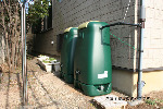 【雨水タンク】コダマ樹脂工業製 ホームダムダブル500リットル グリーン 型番RWT500