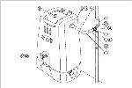 コダマ樹脂工業製ホームダム250リットル用パーツ【部品番号:10 止水栓(穴あきパイプ用)】