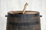 【雨水タンク】 バレルプロダクト製 ウィスキー樽 アクアヴィテホワイトオーク180リットル 角ドイ用