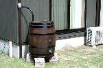 ウイスキー樽雨水タンクアーサー180リットル