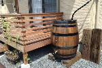 ウイスキー樽雨水タンク樽王250リットル