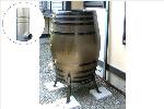 ウイスキー樽雨水タンク樽王450リットルドイツ製雨水コレクター付